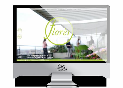 Création du webdesign Florès
